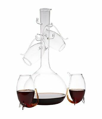 NEW PORT SIPPERS DECANTER Set 4 Glass Gift Boxed White Red Wine Pipe Sipper