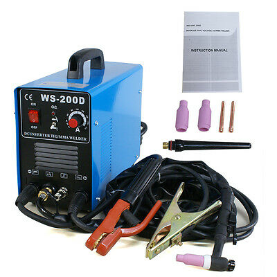 New 200 AMP Inverter Tig & MMA Welder Stainless Steel Welding Votage 110&220V DC