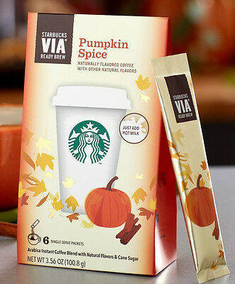 3 Starbucks VIA Pumpkin Spice Ready Brew Instant Coffee- 3 Packages 18 servings