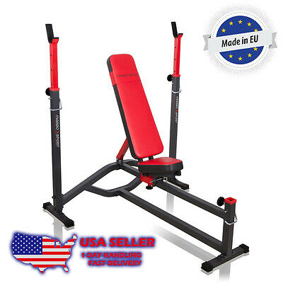 Marbo Sport Reinforced adjustable incline decline bench with racks home gym