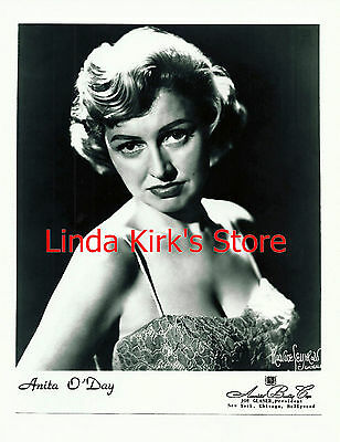 Anita O'Day Promotional Photograph PRINT Head Shot Serious Expression