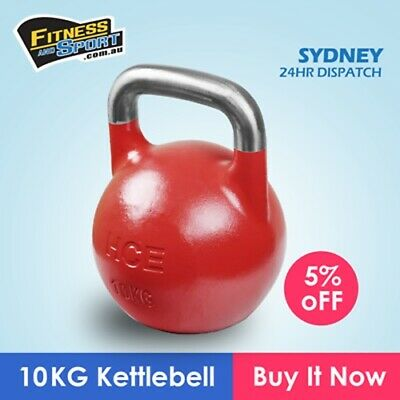 NEW Competition Kettlebell 10KG Fitness Gym Strength Training Exercise Equipment
