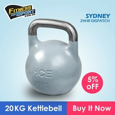 20kg Kettle Bell Home Gym Body Crossfit Endurance Weight Loss Train KettleBell