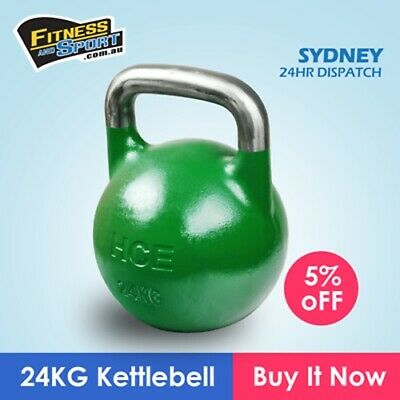 NEW Competition Kettlebell 24KG Fitness Gym Strength Training Exercise Equipment