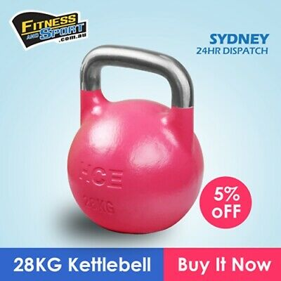 NEW Competition Kettlebell 28KG Fitness Gym Strength Training Exercise Equipment