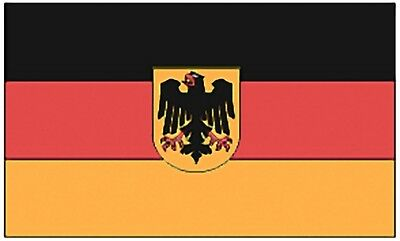 Large 3' x 5' High Quality 100% Polyester German With Eagle Flag - Free Shipping