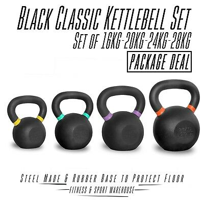 NEW Set of Classic Kettlebell 16KG 20KG 24KG 28KG Fitness Strength Training Gear