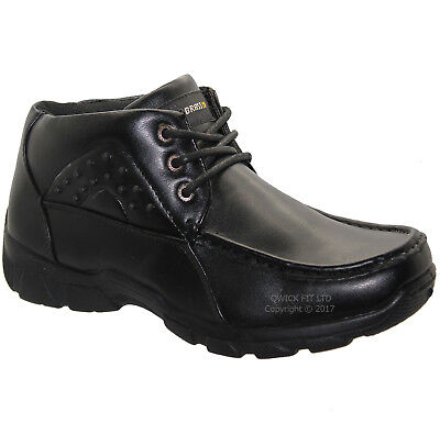 Mens Lace Up Shoes Ankle Boots Formal Dress Office Boys School Work Casual Sizes