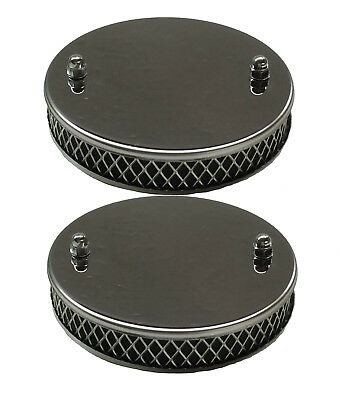"New Pair of Chrome Pancake Sports Air Filters for 1 1/4"" SU MG Midget Sprite"
