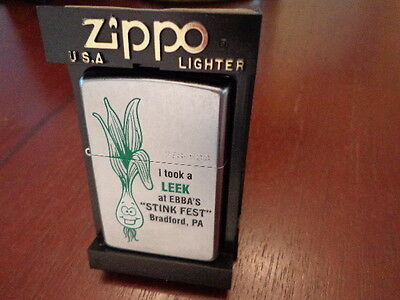 Stinkfest Bradford Pa Took A Leek Zippo Lighter Limited Edition 2002 278/500