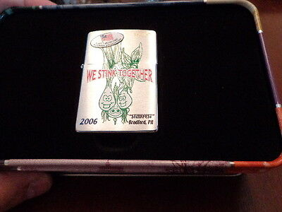 Stinkfest Bradford Pa Stink Together Zippo Lighter Limited Edition 2006 145/150