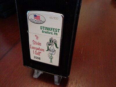 Stinkfest Bradford Pa Stinks  Zippo Lighter Limited Edition 2008 45/100