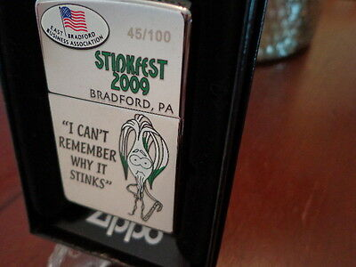 Stinkfest Bradford Pa Can't Remember Zippo Lighter Limited Edition 2009 45/100