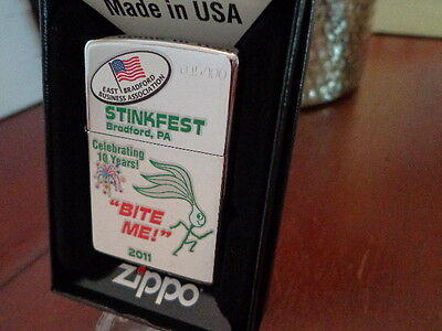 Stinkfest Bradford Pa Bite Me! 10Th Zippo Lighter Limited Edition 2011 45/100