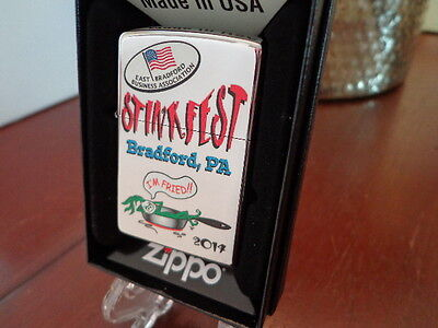 Stinkfest Bradford Pa I'm Fried Leek Zippo Lighter Limited Edition 2014 45/100