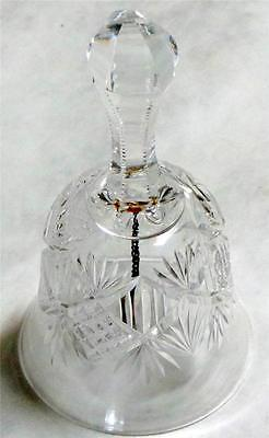 American Brilliant Cut Crystal Bell ca. 1900's with Original Ringer