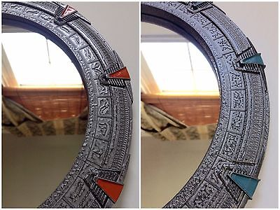 Silver Stargate Mirror Large - SG1 or Atlantis - 12 inches (30 cm)