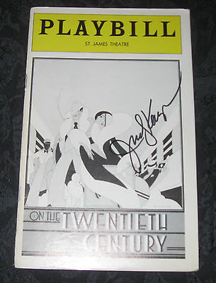 Playbill ON THE TWENTIETH CENTURY signed by Judy Kaye, St. James Theatre 1978
