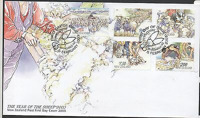 New Zealand 2003 FDC Chinese New Year , Year of The Sheep set stamps
