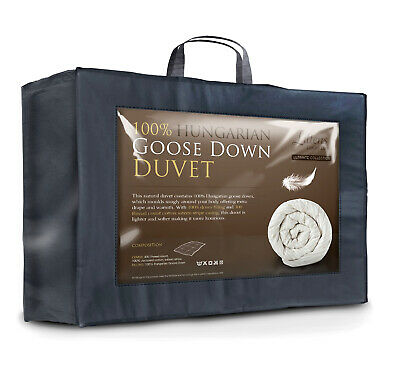 Ultimate 100% Hungarian Goose Down King Bed Size Duvet Quilt 300TC Cotton Casing