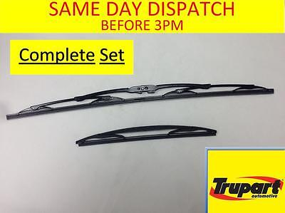 Toyota Aygo Mk1 05-14 Front & Rear Windscreen Wiper Blades X2 Complete Set