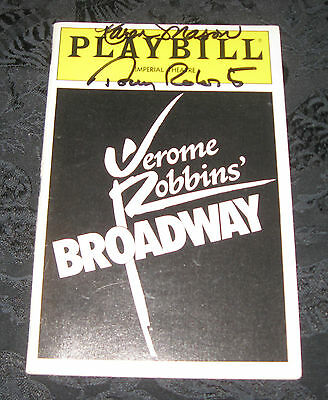 Playbill JEROME ROBBINS' BROADWAY signed by Tony Roberts & Karen Mason, 1990