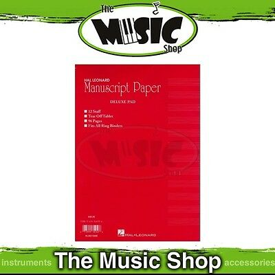 New Hal Leonard Manuscript Paper Deluxe Pad - Fits Ring Binders, 96 Pages