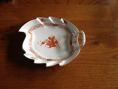 Herend Hungary Leaf Dish-Chinese Bouquet design
