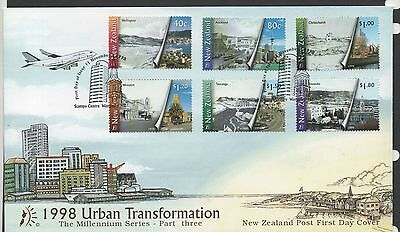 New Zealand 1998 FDC Urban Transformation set stamps