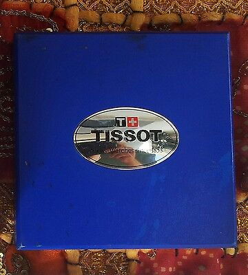 TISSOT CHRONOGRAPH - BOX AND WARRANTY AND DOCUMENTS