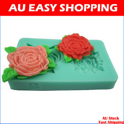 65031 Rose peony Silicone sugar cake decorating cutters molds soap chocolate