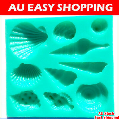 65025 Marine animal shell Silicone sugar cake decorating cutters molds soap