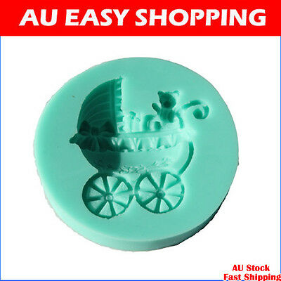 Baby carriages Chocolate Candy Jelly fondant Cake tool Silicone Mold Baking Pan
