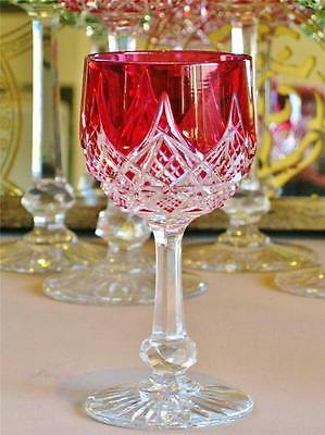 Outstanding Baccarat Colbert French crystal Ruby cut to clear cordial glass.
