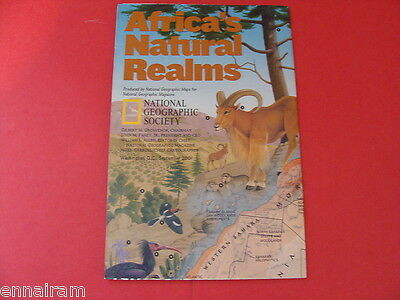 National Geographic Society Map 2001 Africa 's Natural Realms