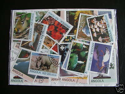 Lot Timbres Afrique Angola : 50 Timbres Tous Differents / Africa Angla Stamps