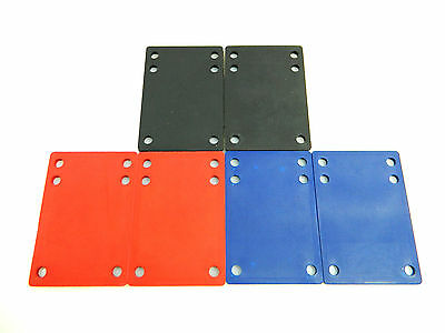 Skateboard Longboard 1/8'' Rubber Riser Pads Multiple Color to Choose