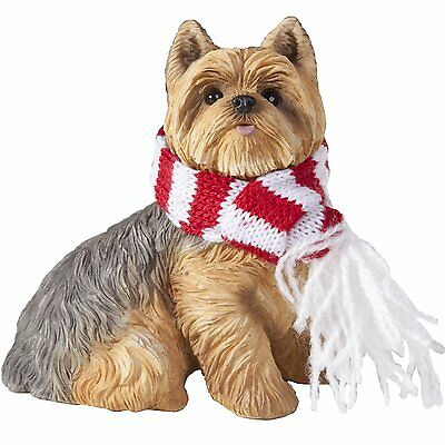 SANDICAST Sculpture Dog Christmas Ornament Scarf XSO22302 YORKSHIRE TERRIER