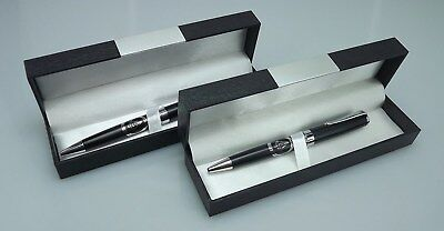 TWO BLUE LODGE PENS QUALITY HEAVY WEIGHT Masonic F&AM GREAT OFFICERS GIFT-BLACK