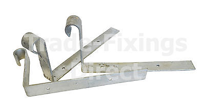 Scrolled Hip Irons 200mm x 100mm x 3mm Hot Dipped Galvanised (Baby)