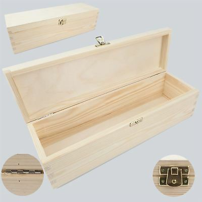 Unpainted Wooden Wine Box 1/ One Place for a Bottle of Wine/ Art Craft Decoupage