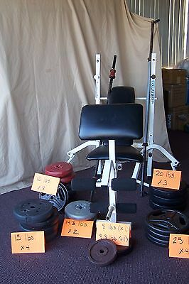 Weight Bench includes Leg Curl and Butterfly Attachment w/ 345 lbs. Free Weights