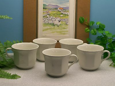 Lot of 5   Royal Staffordshire J & G Meakin LIBERTY White 8 oz. Coffee Cups