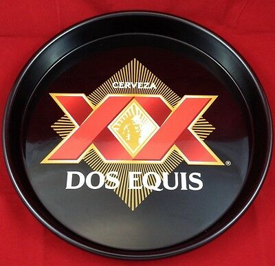 "New - Dos Equis Tray - Metal - Black - 13"" - Dos XX- Stay Thirsty My Friends"
