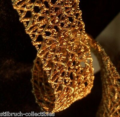 Precious glamorous wide Antique Vintage Gold Metallic ribbon trim 27 y available