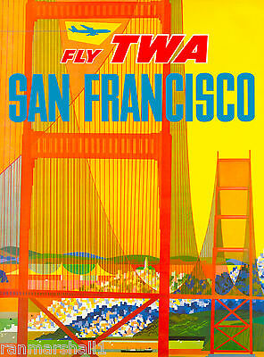 San Francisco California III Vintage United States Travel Advertisement Poster