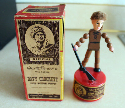 Davy Crockett Push Puppet