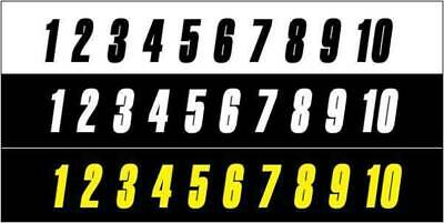 Stick On Numbers 6 Inch Black, White, Yellow Self Adhesive - Made In Australia