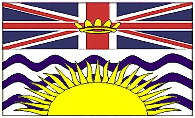Large 3' x 5' High Quality 100% Polyester British Columbia Flag - Free Shipping
