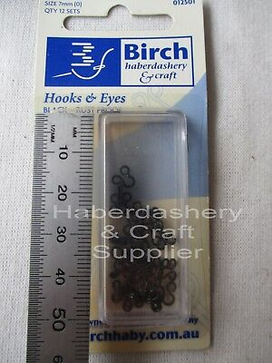 Hooks And Eyes 12 Sets Size (1)9Mm Black-Rust Proof